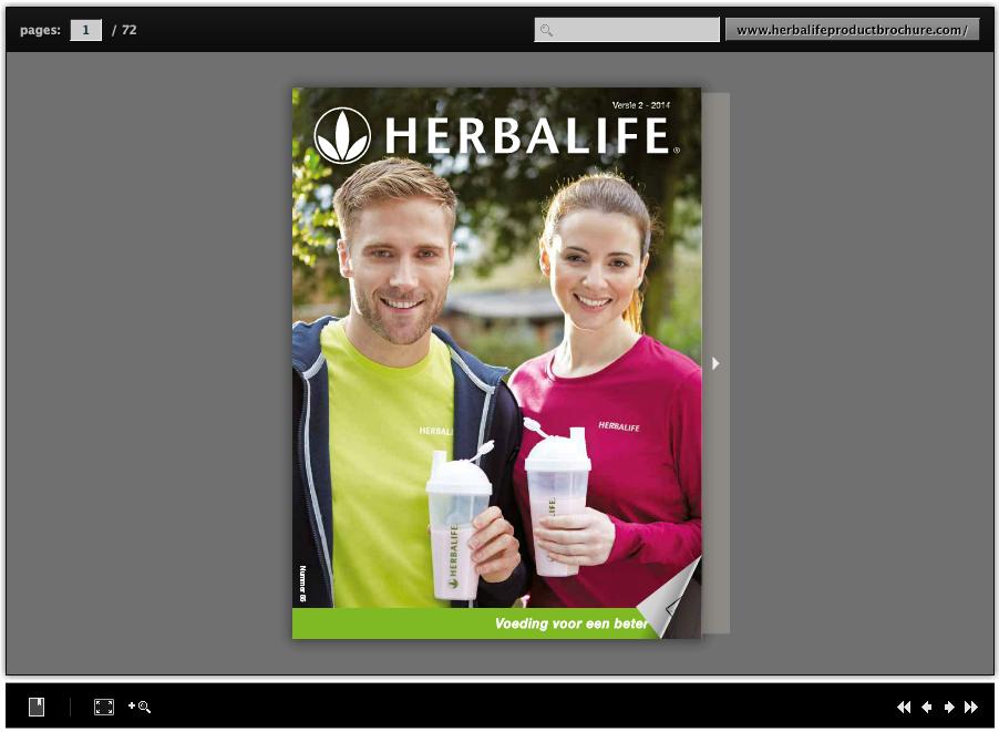 Herbalife productbrochure, Herbalife informatie producten
